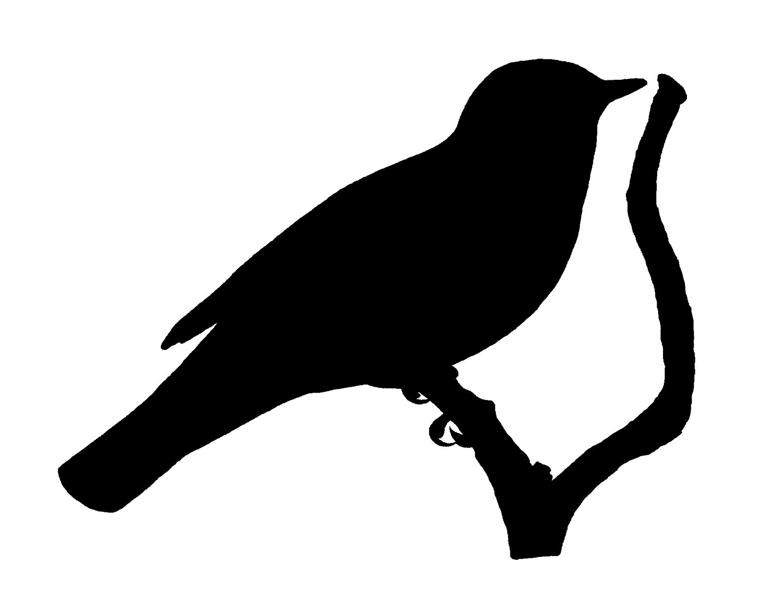 digital stamp design free bird image transfer silhouette