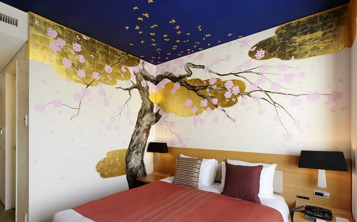No. 13 Park Hotel Tokyo Artist Room 'Cherry Blossoms' designed by Hiroko Otake