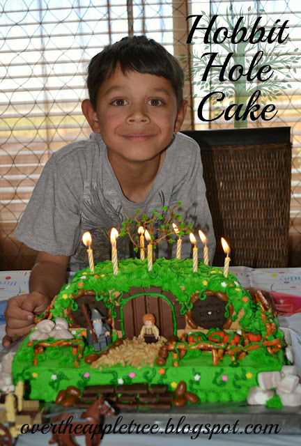 DIY Hobbit hole birthday cake by Over The Apple Tree