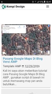 Template AMP blogger gratis kompi design