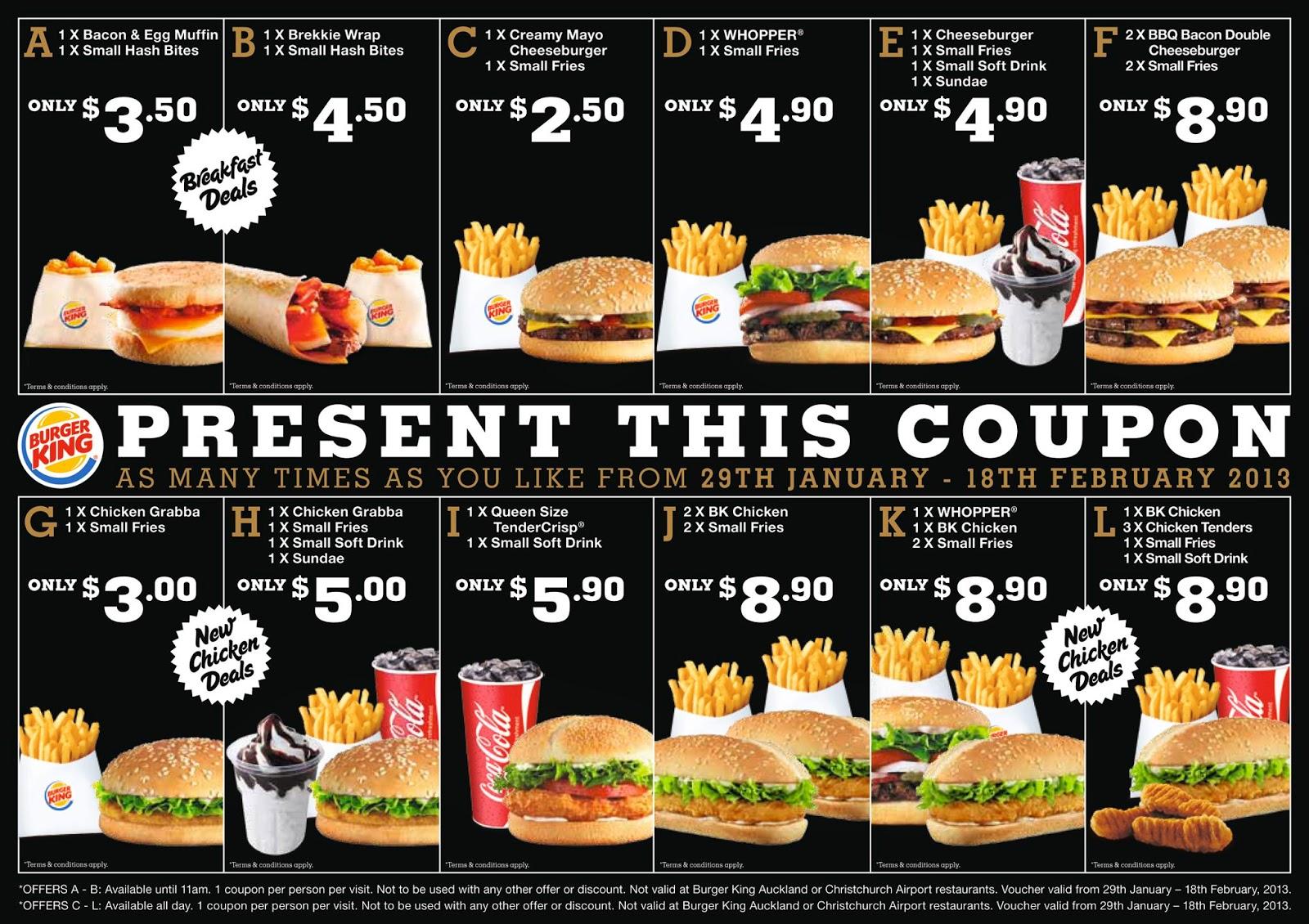 Burger king coupon codes