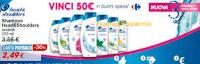 Logo Con Head&Shoulder vinci buoni spesa Carrefour da 50 euro