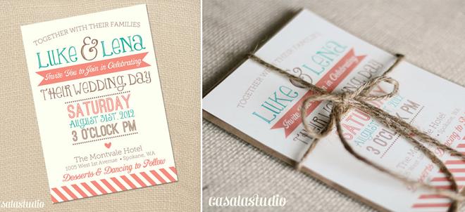 Wedding Invitations Turquoise: E Hernandez Designs: Color Palettes I'm Loving: Turquoise