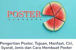 Materi Poster: Pengertian Beserta Tujuan, Manfaat, Ciri, Syarat, Jenis dan Cara Membuat Poster Terlengkap