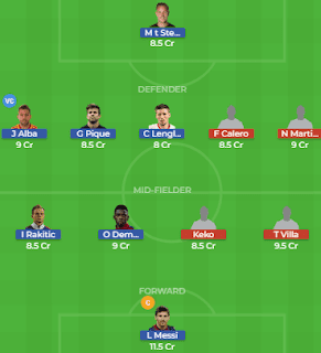 BAR vs VLD Dream11 Team Prediction | Barcelona vs Real Valladolid: Lineup, Best Players