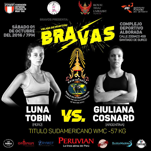 South America World Muay thai Council WMC Luna Tobin Peru Muay thai WMC