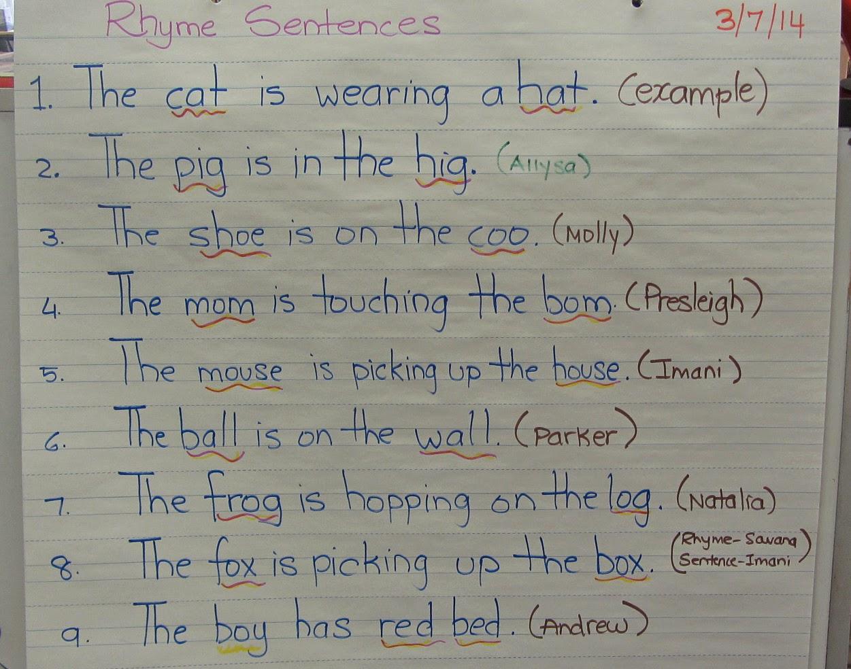 Rhyming Sentence Worksheets Tutsstar Thousands Of
