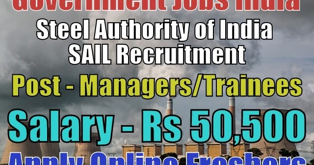 sail-recruitment-2018-for-managers  Th P Govt Job Online Form Kolkata on