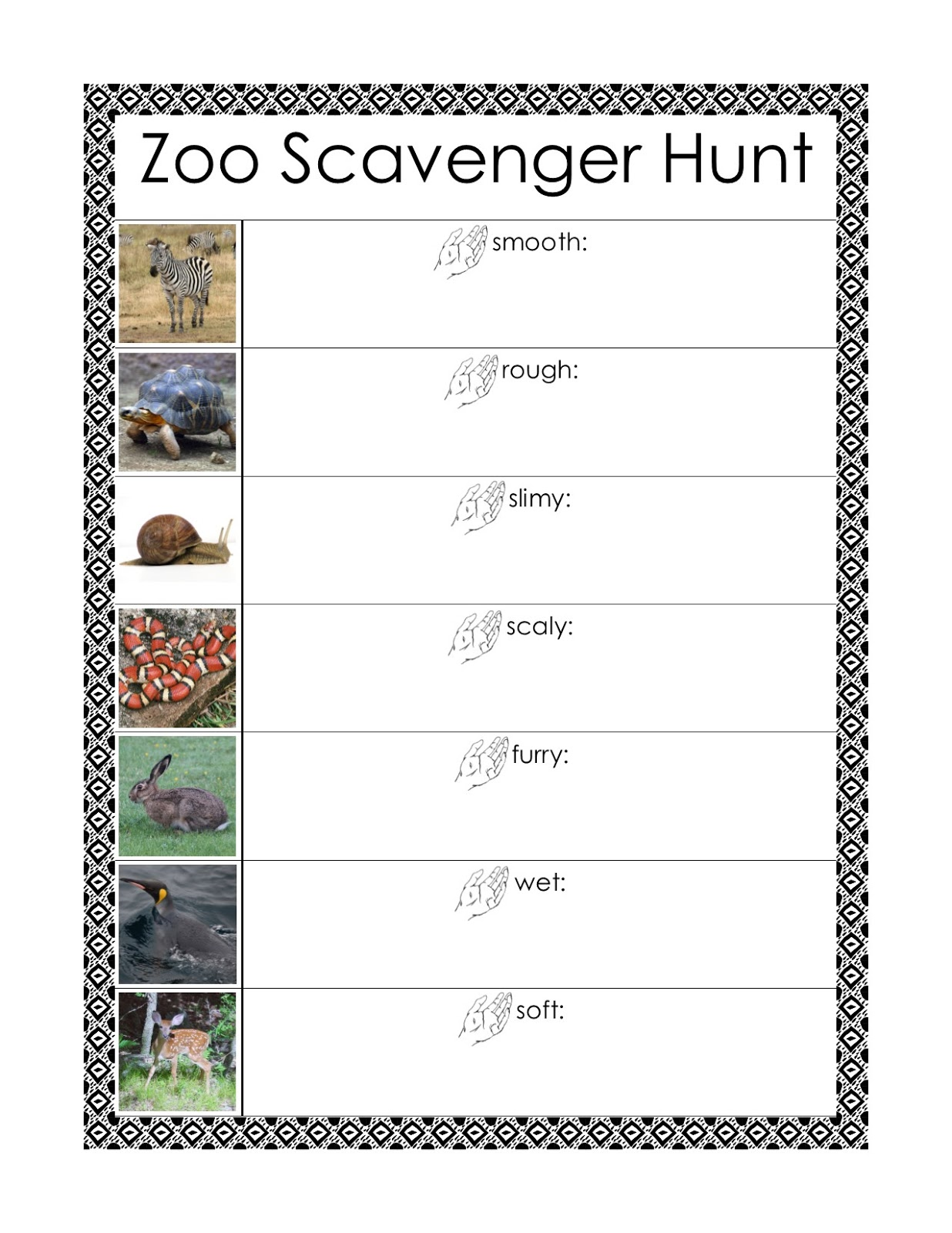 Mesmerizing image intended for zoo scavenger hunt printable