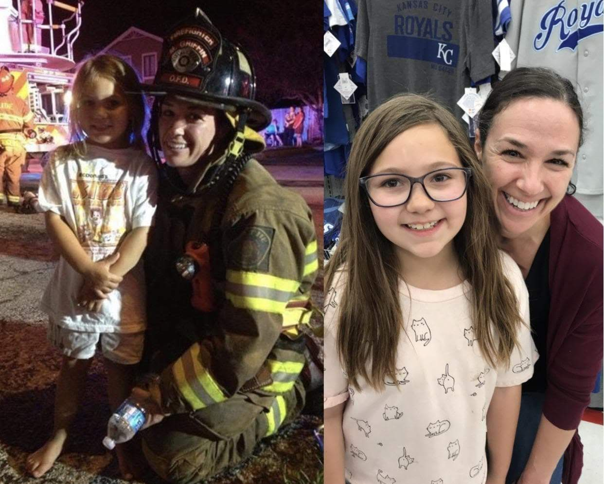 Today's Photo - March 28, 2019 : House fire 6 years ago .... my kiddo wasn't scared that night bc of this awesome firefighter....my daughter was in awe of her & look who we just ran into tonight!