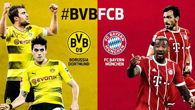 Prediksi Borussia Dortmund vs Bayern Munich, 04 November 2017