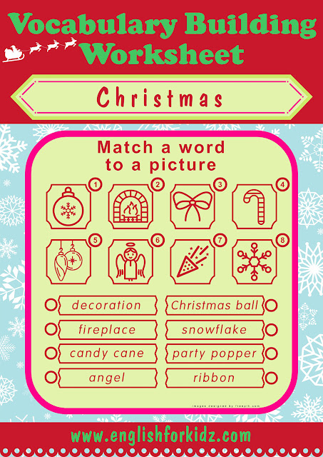 Christmas worksheet for learning English