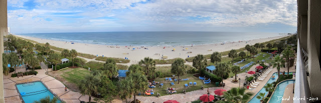 view of myrtle beach from hotel
