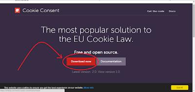 """""""Cara membuat Pemberitahuan cookie didalam blog"""""""