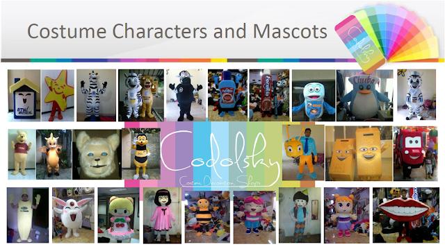 Kostum Maskot icon logo perusahaan atau instansi lembaga dan berbagai jenis bentuk baju badut karakter