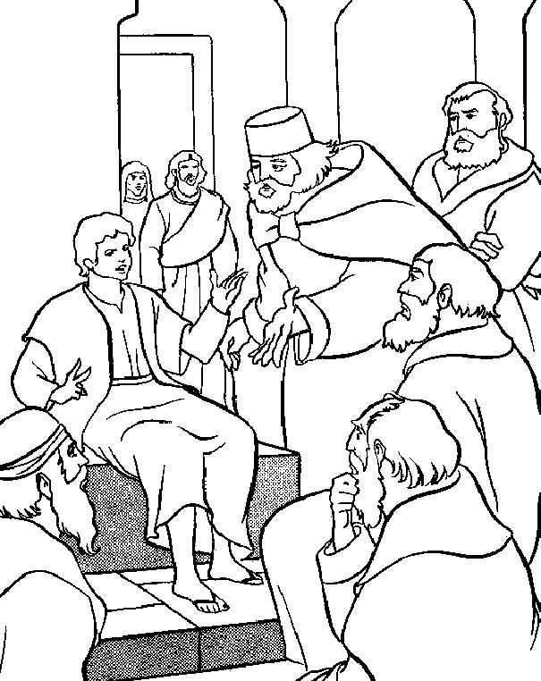 Jesus in the temple coloring pages ~ Insights and Inspirations