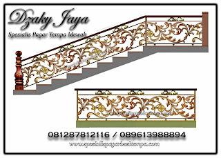 Desain Pagar Tangga Balkon Tempa Mewah