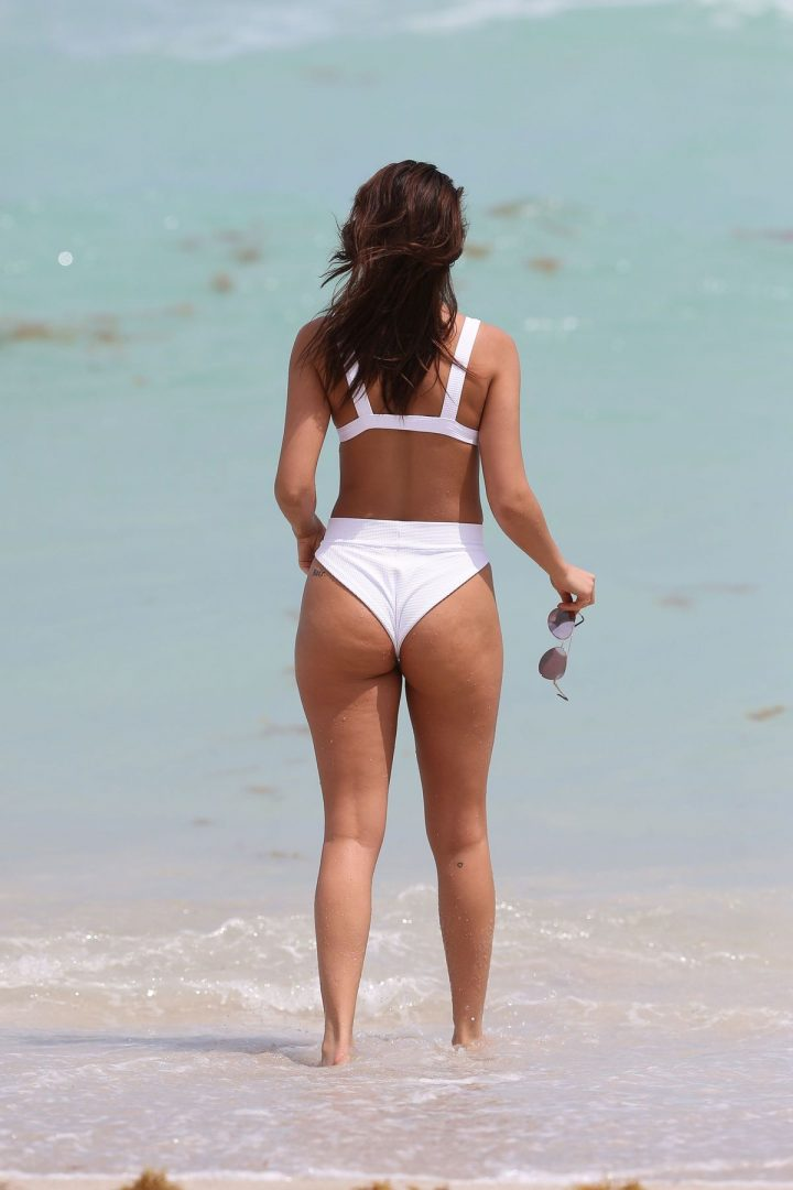 The Chantel Jeffries in white bikini in Miami