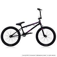 Sepeda BMX Polygon Rudge 3 Black 20 Inci