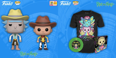 San Diego Comic-Con 2018 Exclusive Rick and Morty POP! Vinyl Figures & Pop! Tees T-Shirt by Funko