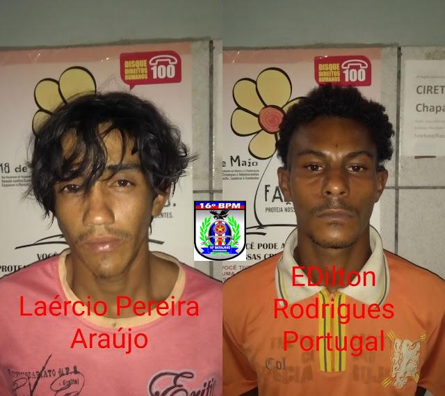 Dupla é presa logo após matar duas pessoas em Araioses