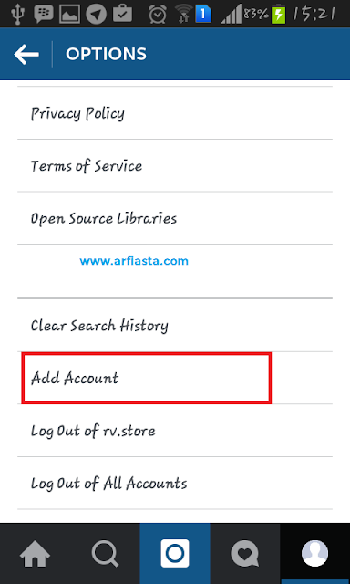 Cara membuat Multiple Account di Instagram - Add Account