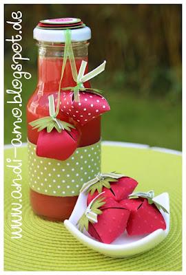Rezept für selbstgemachten Erdbeer-Sirup