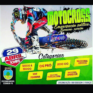 Baraúna realizará Motocross durante Emancipação Política