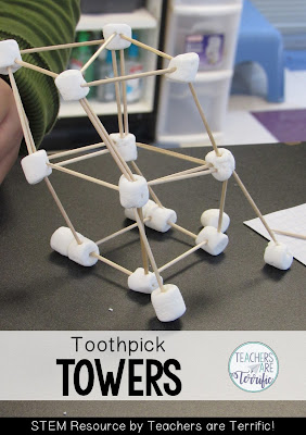 STEM Challenge: Using two materials students build a tower. The problem solving with this one is intense!