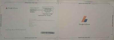 Tampilan Depan Belakang Surat PIN Adsense