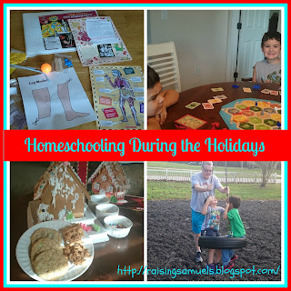 Homeschooling During the Holidays (Weeks 16 & 17)