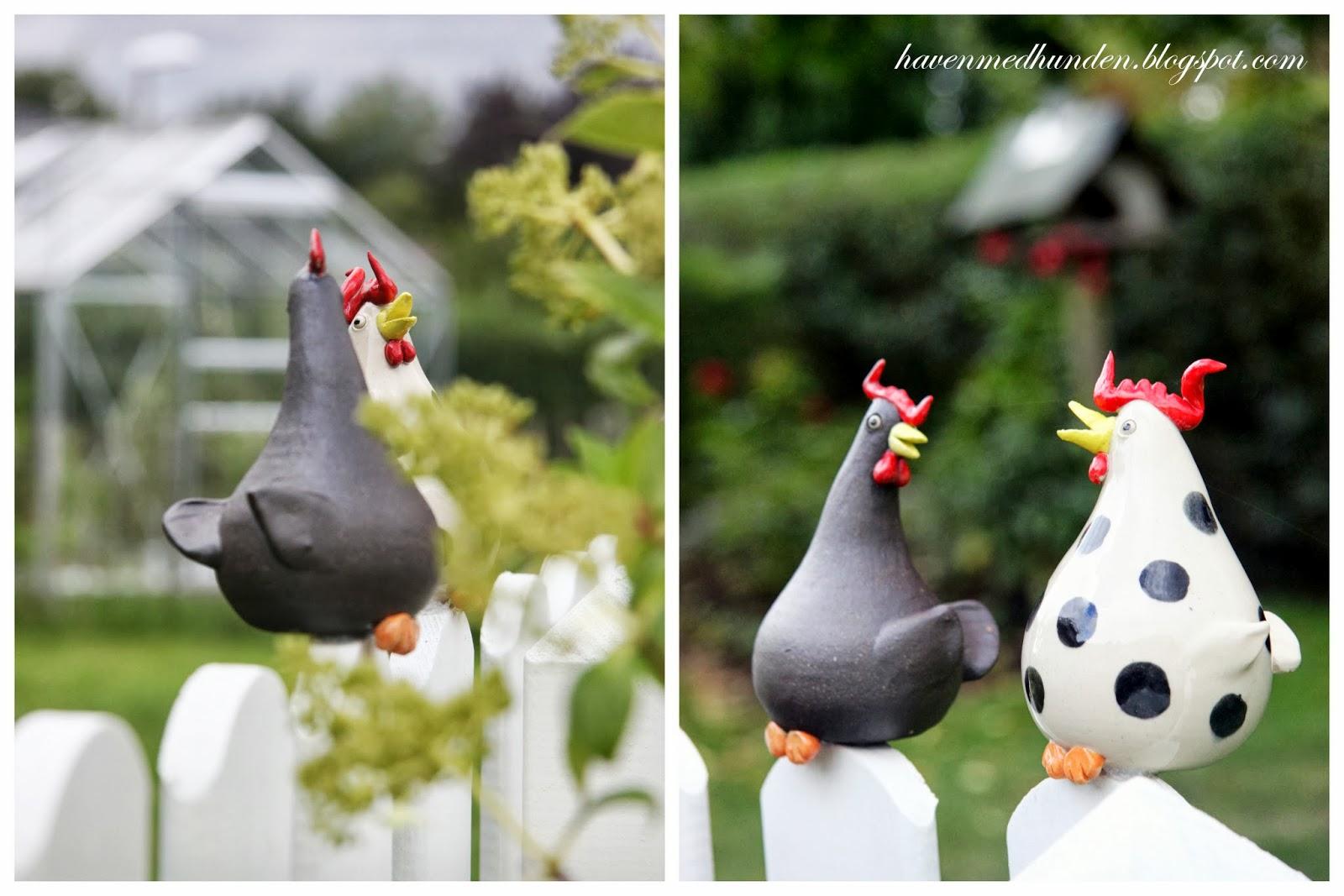 grethes keramik Haven med hunden: Høns i haven grethes keramik