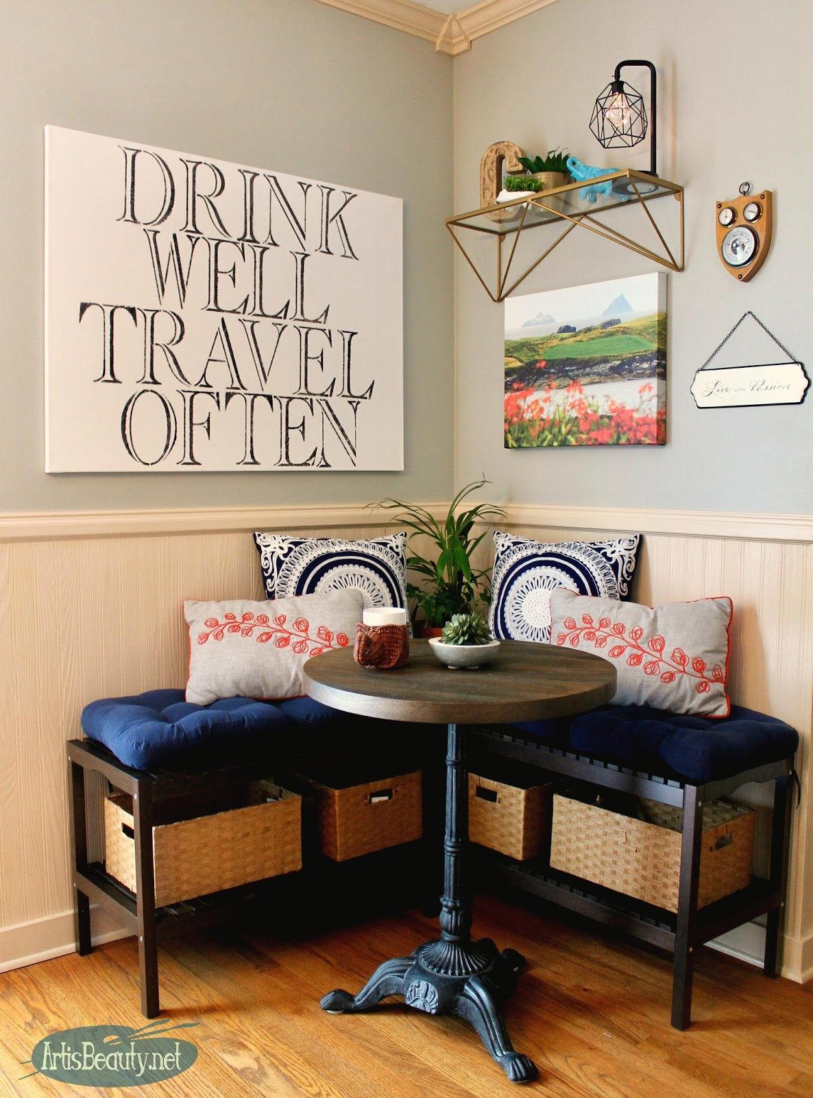 l shaped bench kitchen table sprouted book art is beauty: creating an eating nook with ikea benches
