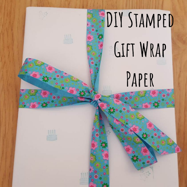 DIY Stamped Gift Wrap Paper