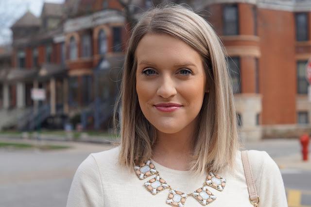 statement necklace chicago blogger