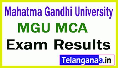 Mahatma Gandhi University MCA Exam Results