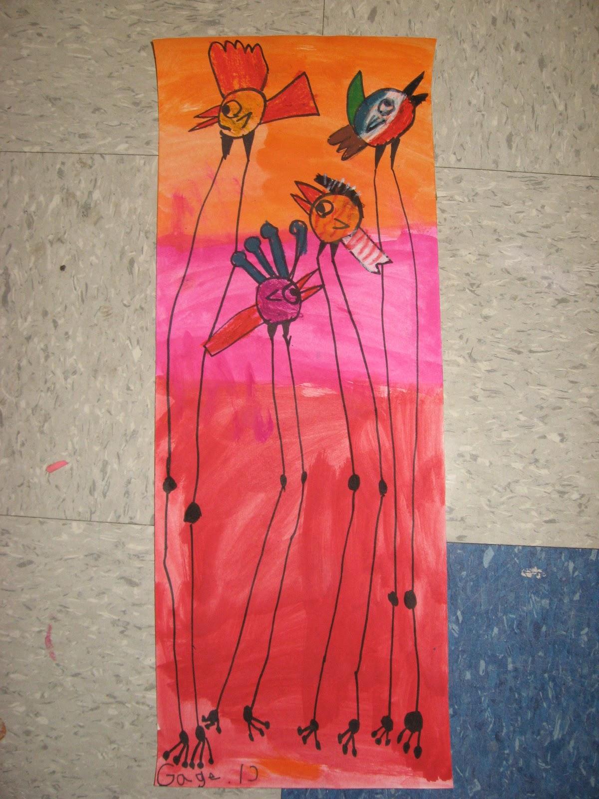 Jamestown Elementary Art Blog 1st Grade Dali Birds