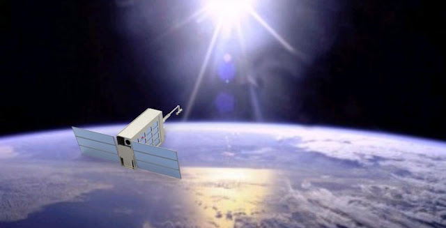Artist's concept of the SWIMSat satellite. Credit: Robert Amzler/SpaceTREx