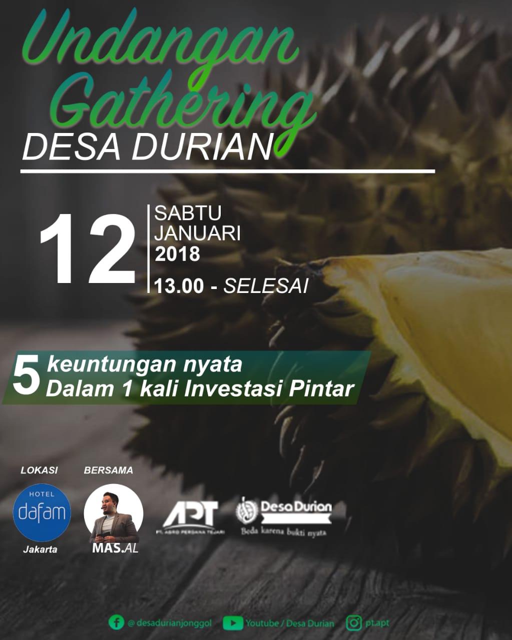 Gathering Kavling Desa Durian: Segudang Manfaat untuk Masa Depan Cerah