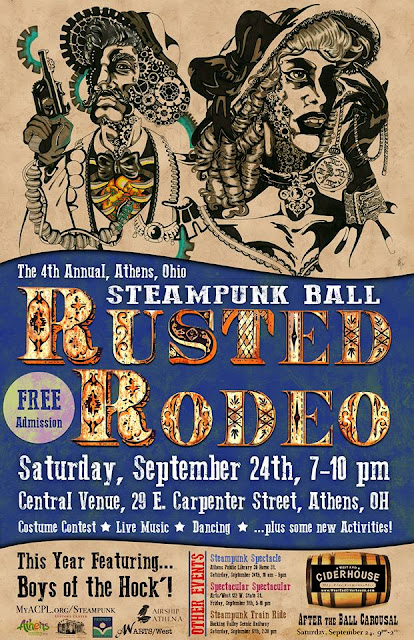 Rusted Rodeo Steampunk Ball 2016 Athens, Ohio / After the ball carousal Sept. 24