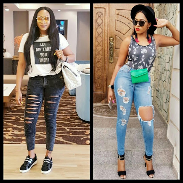 Battle Of The Ripped Jeans: Who Bows Oge Okoye Or Rukky Sanda?