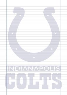 Papel Pautado Indianapolis Colts PDF para imprimir na folha A4