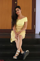 Shipra gaur in V Neck short Yellow Dress ~  004.JPG