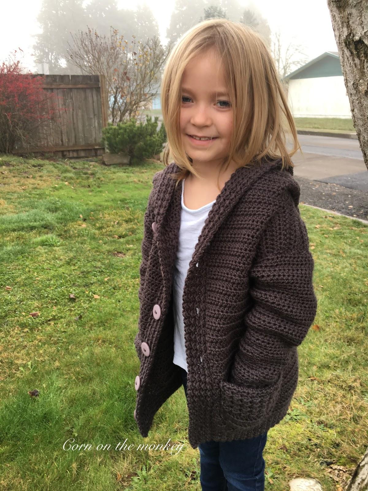 Corn on the Monkey: Addie Bear hooded crochet cardigan pattern - PDF ...