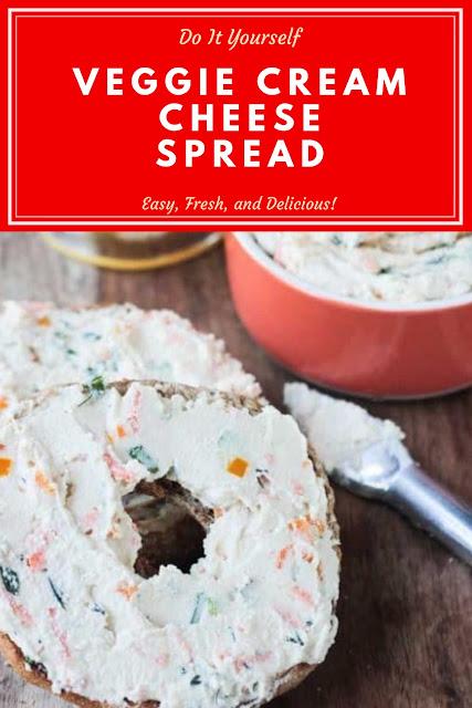 Veggie Cream Cheese Spread  #VeggieCreamReceipes  #CheeseSpreadReceipes  #CreamCheeseReceipes