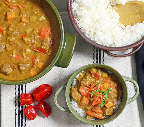 Maafe mafe beef stew recipe or West African peanut stew