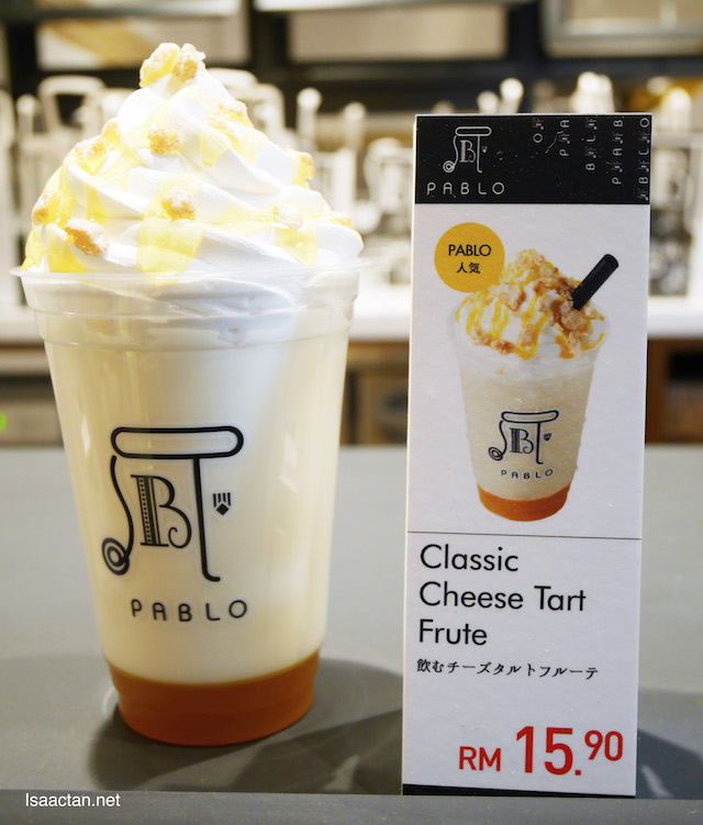 Pablo Frute - Classic Cheese Tart flavour RM 15.90