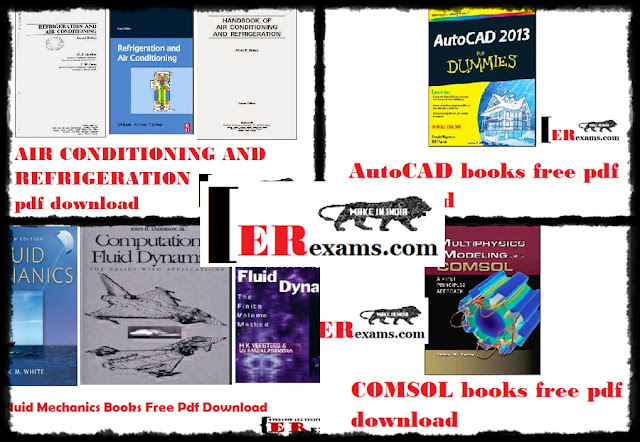 All Mechanical And Civil Engineering Books  By Categories Free Pdf Download All mechanical and civil engineering books most wanted books Fluid Mechanics By RK Bansal Free Pdf Download A Textbook Of Engineering Mechanics By RS Khurmi Free Pdf Download Principle Of Electrical Machines By VK Mehta Free Pdf Download Strength Of Materials By Timoshenko Fluid Mechanics Cengel Free Pdf Download in this post I share I have posted  here many books all Air Conditioning And Refrigeration, AutoCAD books, Fluid Mechanics, COMSOL books.