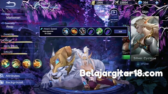 Hero Irithel Mobile legends
