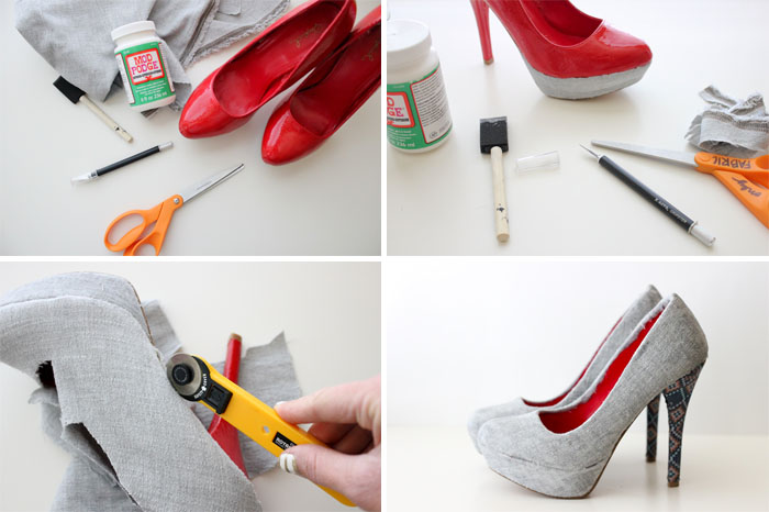 topuklu ayakkabı kumaşla kaplama yöntemi